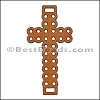 Laser Cut Leather Cross TAN - per 10 pieces