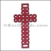 Laser Cut Leather Cross PLUM - per 10 pieces
