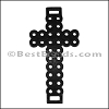 Laser Cut Leather Cross BLACK - per 10 pieces