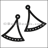 LASER CUT Leather JEWELRY COMPONENT Style 3 BLACK - per pair