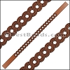 10mm Flat LASER CUT Leather Style 1 TAN - per piece