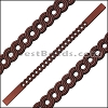 10mm Flat LASER CUT Leather Style 1 ANT. COPPER - per piece