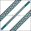 10mm Flat LASER CUT Leather Style 2 TURQUOISE - per piece