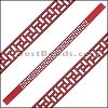 10mm Flat LASER CUT Leather Style 2 RED - per piece