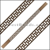 10mm Flat LASER CUT Leather Style 2 MET. BROWN - per piece