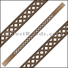 10mm Flat LASER CUT Leather Style 3 MET. BROWN - per piece