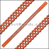 10mm Flat LASER CUT Leather Style 5 RUST - per piece