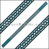 10mm Flat LASER CUT Leather Style 6 TURQUOISE - per piece