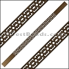 10mm Flat LASER CUT Leather Style 6 METALLIC BROWN - per piece