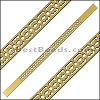 10mm Flat LASER CUT Leather Style 6 GOLD - per piece