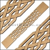 30mm Flat LASER CUT Leather Style 1 NATURAL - per piece