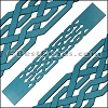 30mm Flat LASER CUT Leather Style 1 TURQUOISE - per piece