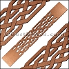 30mm Flat LASER CUT Leather Style 1 MONEYPENNY - per piece