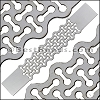 30mm Flat LASER CUT Leather Style 2 ANT SILVER - per piece
