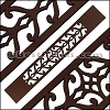 30mm Flat LASER CUT Leather Style 3 CHOCOLATE - per piece