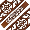 30mm Flat LASER CUT Leather Style 3 TAN - per piece