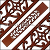 30mm Flat LASER CUT Leather Style 3 MAHOGANY - per piece
