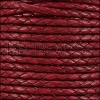 4mm Round Mediterranean BRAIDED Leather PLUM - METER