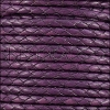 4mm Round Mediterranean BRAIDED Leather PURPLE - METER