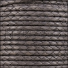 4mm Round Mediterranean BRAIDED Leather GREY - METER