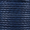 4mm Round Mediterranean BRAIDED Leather ELECTRIC BLUE - METER