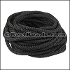 5mm round nylon cord BLACK - per 10 meters