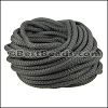 5mm round nylon cord DARK GREY - per 10 meters