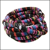 6mm round Multi Cotton Cord BLACK/PINK - per 5 meters