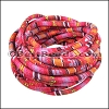 6mm round Multi Cotton Cord PINK/RED - per 5 meters