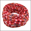 6mm round Multi Cotton Cord BRIGHT RED - per 5 meters