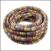6mm round Multi Cotton Cord PASTEL - per 5 meters