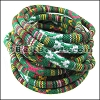 6mm round Multi Cotton Cord GREEN - per 5 meters
