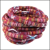 6mm round Multi Cotton Cord RED - per 5 meters