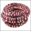 6mm round Multi Cotton Cord BORDEAUX - per 5 meters