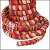Regaliz® Multi Cotton Cord RED/BROWN - per 3 meters
