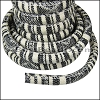 Regaliz® Multi Cotton Cord BLACK/CREAM - per 3 meters