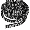 Regaliz® Multi Cotton Cord BLACK & WHITE - per 3 meters
