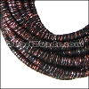 5mm round Knitted Cord BLACK/COPPER - per 5 meters