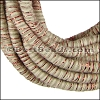 5mm round Knitted Cord BEIGE/COPPER - per 5 meters