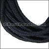5mm round Knitted Cord BLACK/BLUE - per 5 meters
