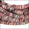 5mm round Knitted Cord RED - per 5 meters
