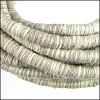 5mm round Knitted Cord WHITE/GREY - per 5 meters