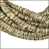 5mm round Knitted Cord BEIGE METALLIC - per 5 meters
