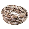 5mm Round Stitched PU Cord BROWN - per 5 meters