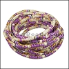5mm Round Stitched PU Cord PURPLE - per 5 meters