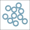 10mm rubber o-rings per 10 pieces ICE BLUE
