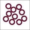 10mm rubber o-rings per 10 pieces CRANBERRY