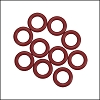 10mm rubber o-rings per 10 pieces MERLOT