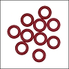 10mm rubber o-rings per 10 pieces BRICK RED