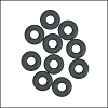 5mm rubber o-rings per 10 pieces CHARCOAL
